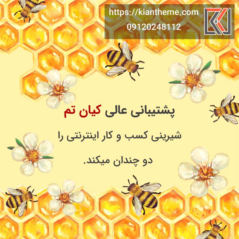 بهترین قالب وردپرس عسل