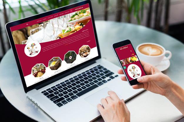 قالب سایت رستورانی