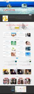 پریکاتن -نمونه سایت با قالب وردپرس شرکتی